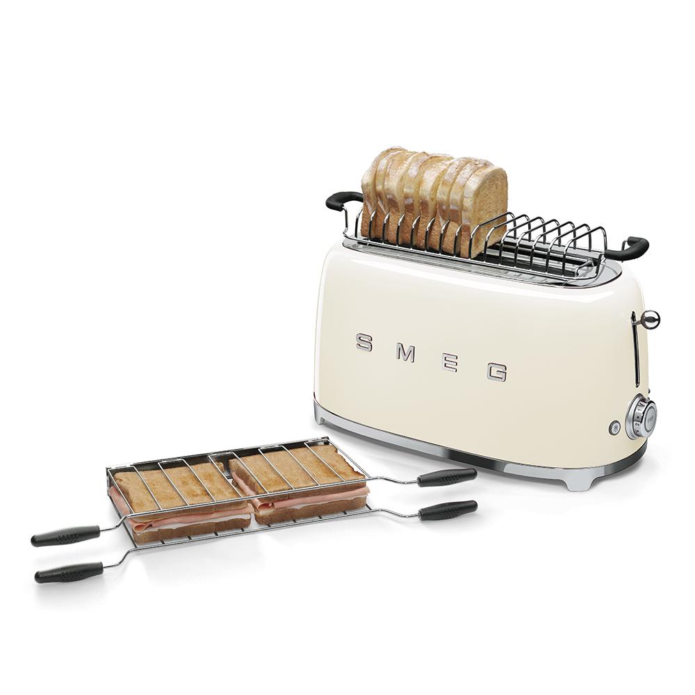 Smeg 50's Retro Style Aesthetic Toaster - Cream