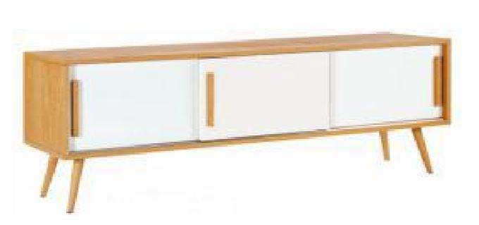 TV Unit Oak Ven With White Drawer