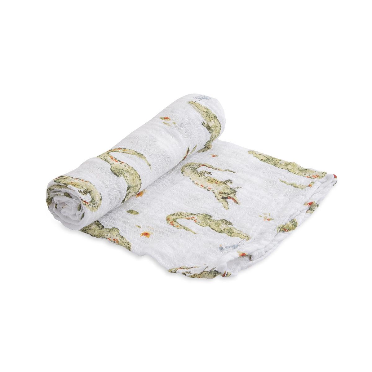 Little Unicorn Cotton Muslin Swaddle Gators