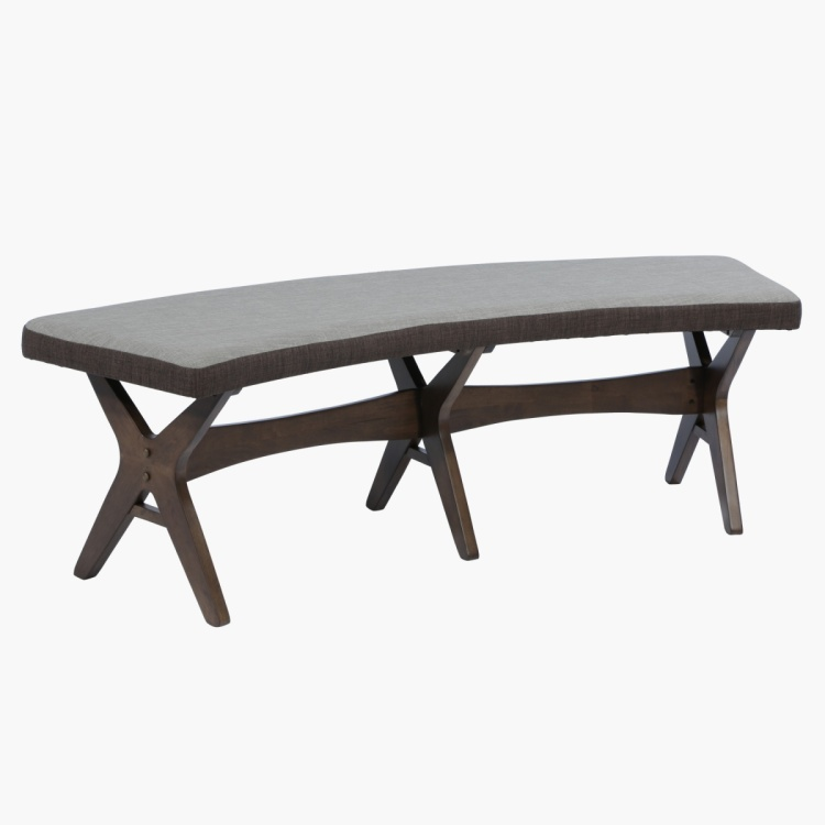 Weylin Bench - Grey/Brown