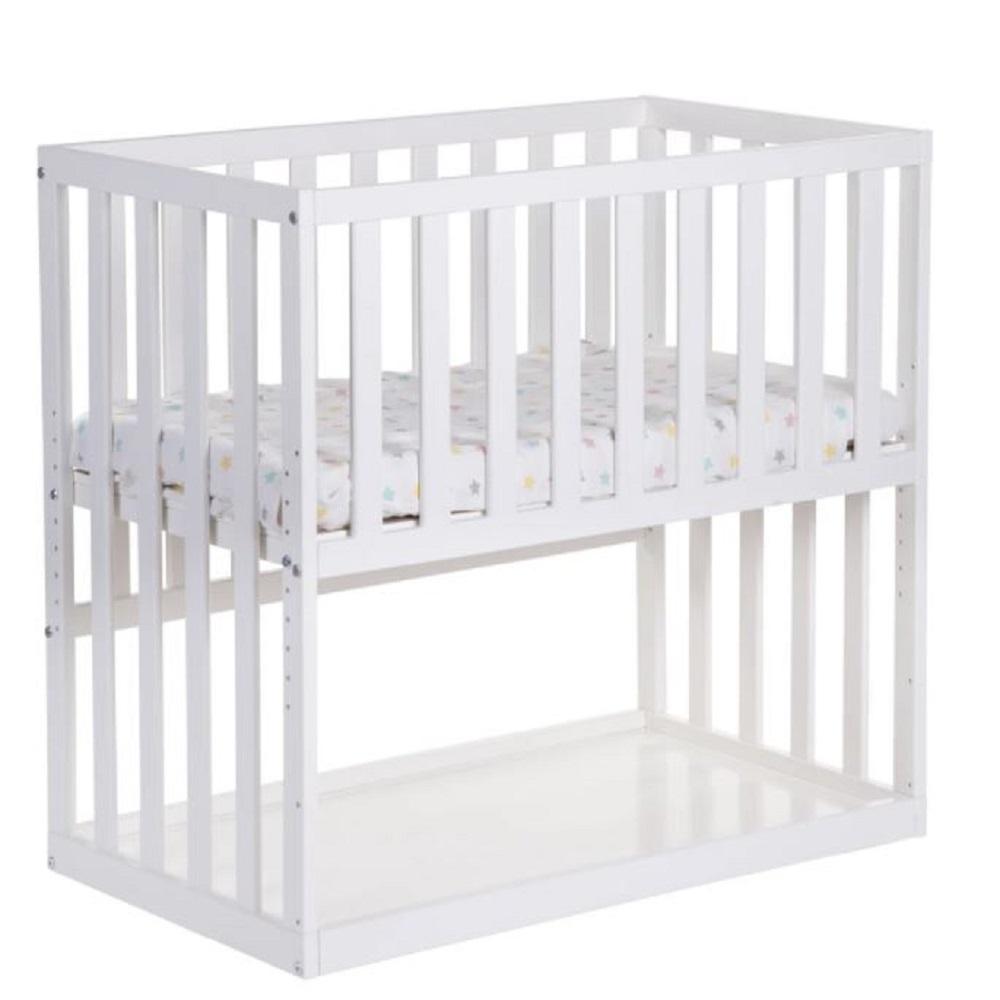 White Beech Bedside Crib
