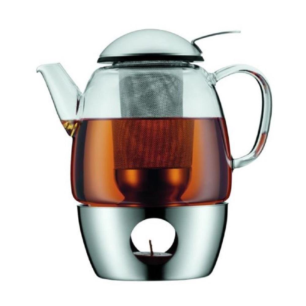 طقم إبريق شاي مع سخّان سمارتي، 1 ليتر، دبليو ام اف-WMF