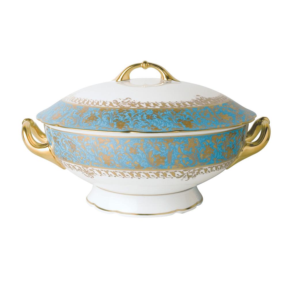 Bernardaud Eden Turquoise Soup Tureen