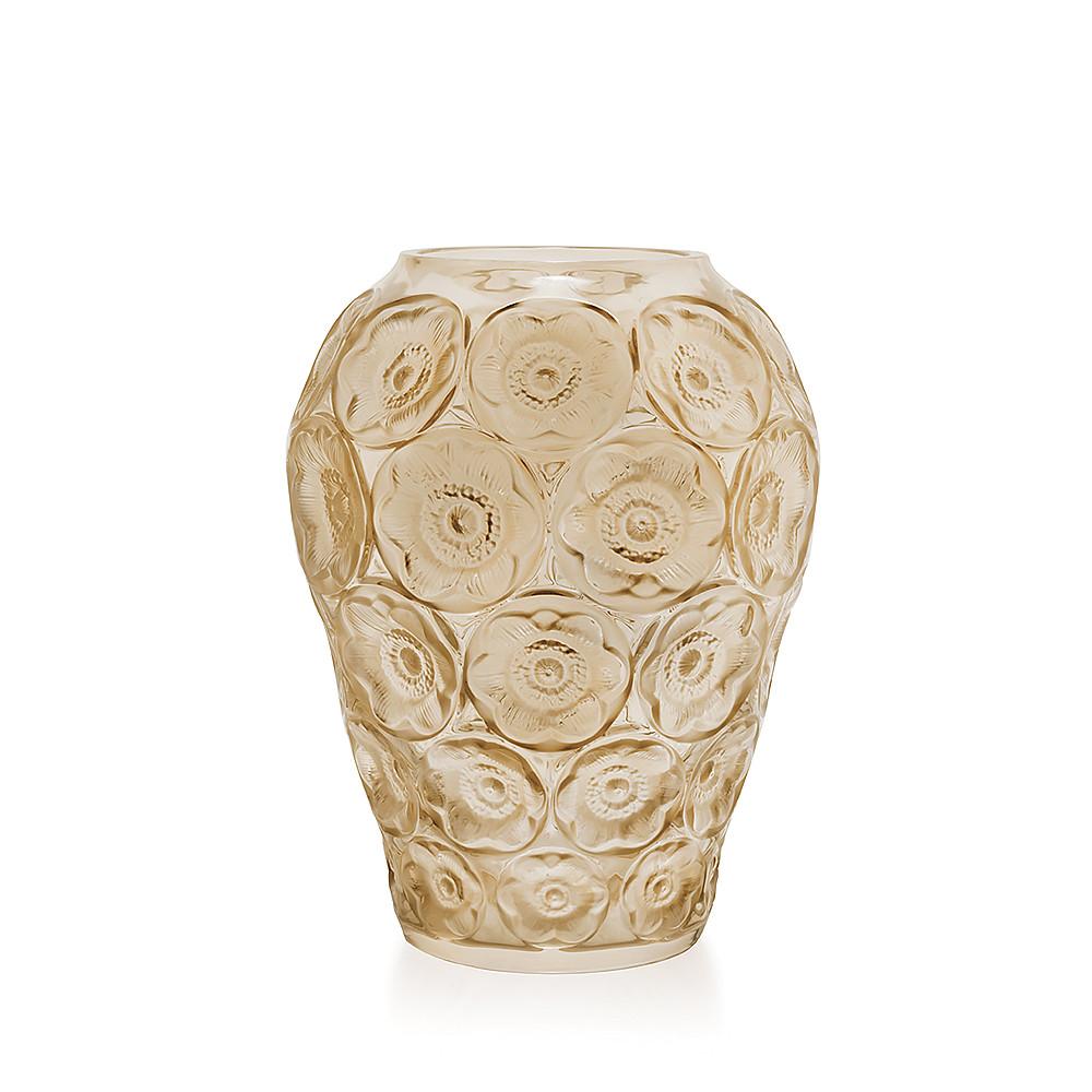 Lalique Golden Vase