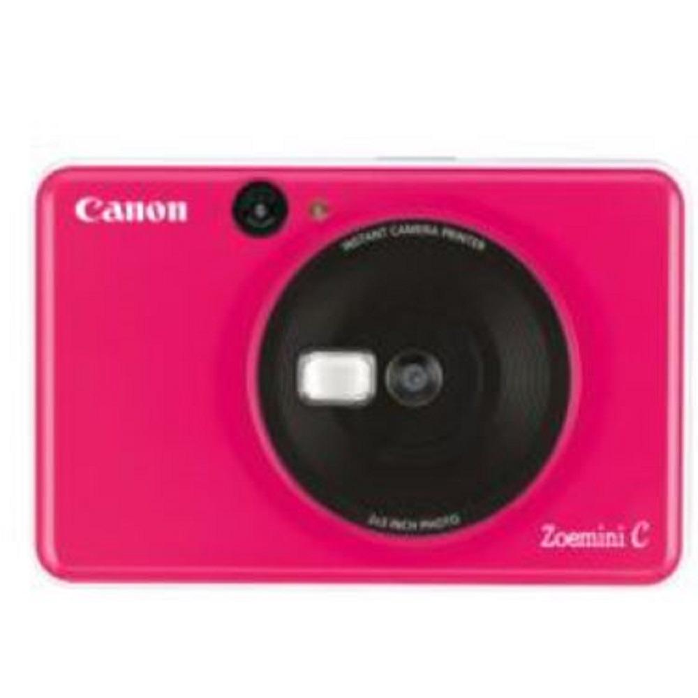 كاميرا فورية مع طابعة ، وردي